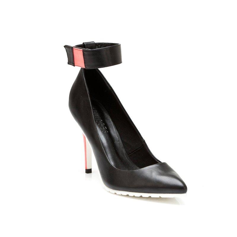 Zapatos de tacón flúo para mujer