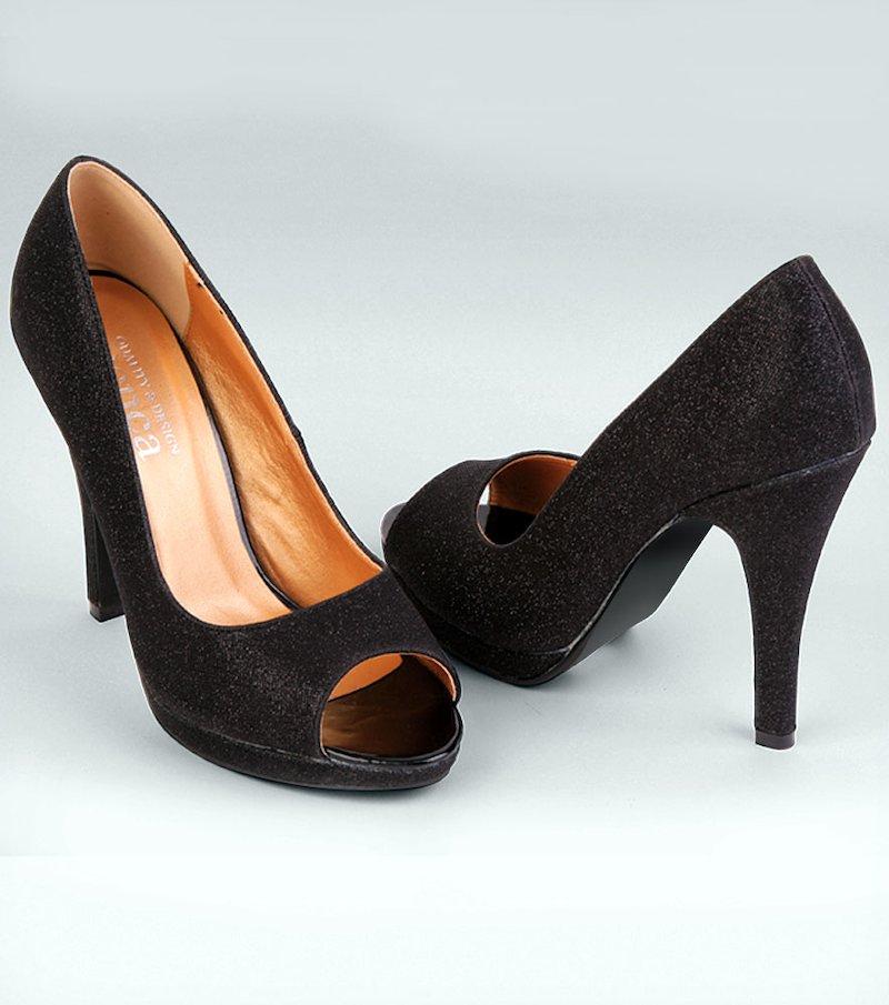 Zapatos mujer de tacón corte salón 'peep toe'