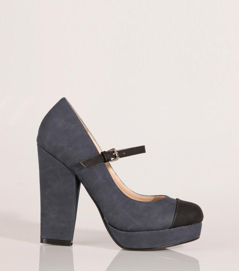 Zapatos mujer de tacón alto y plataforma - Azul