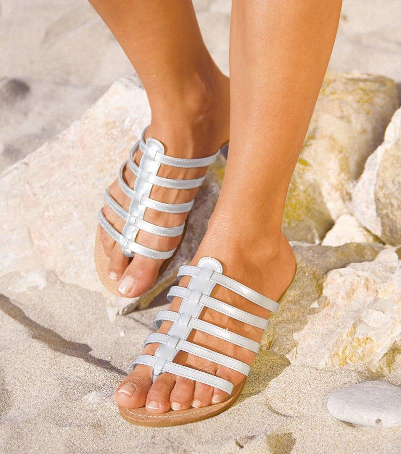 Sandalias planas mujer de tiras