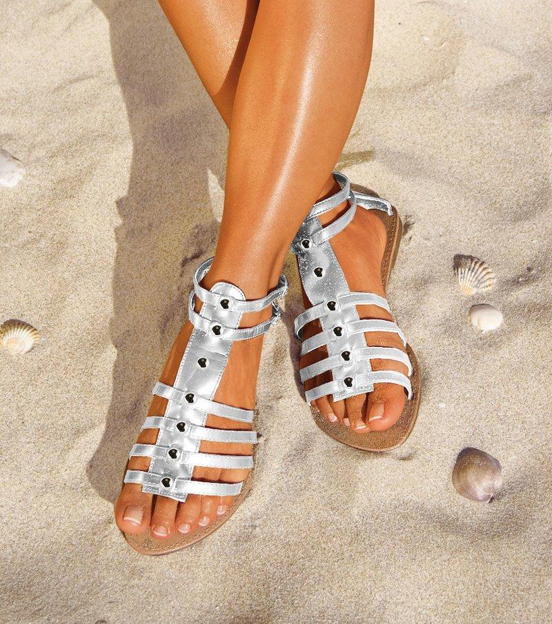 Sandalias mujer romanas - Blanco