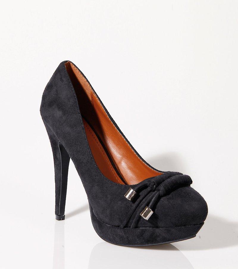 Zapatos de tacón mujer con plataforma y abalorios