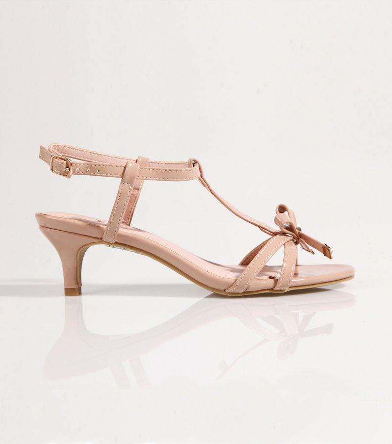 Sandalias mujer tacón dorado