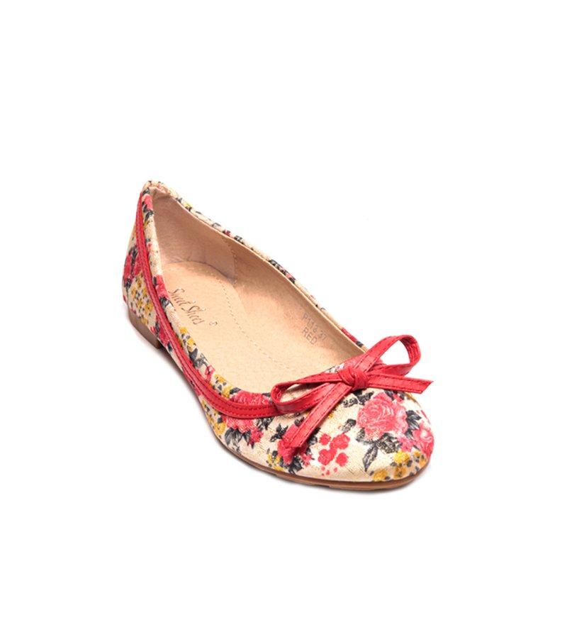Zapatos bailarinas mujer flores