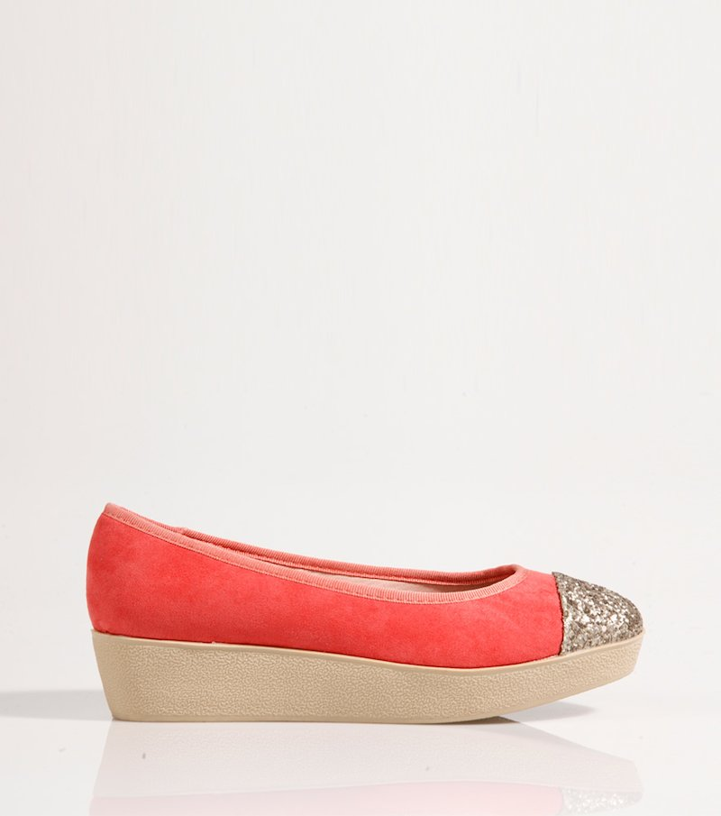 Zapatos bailarinas mujer coral - Rosa
