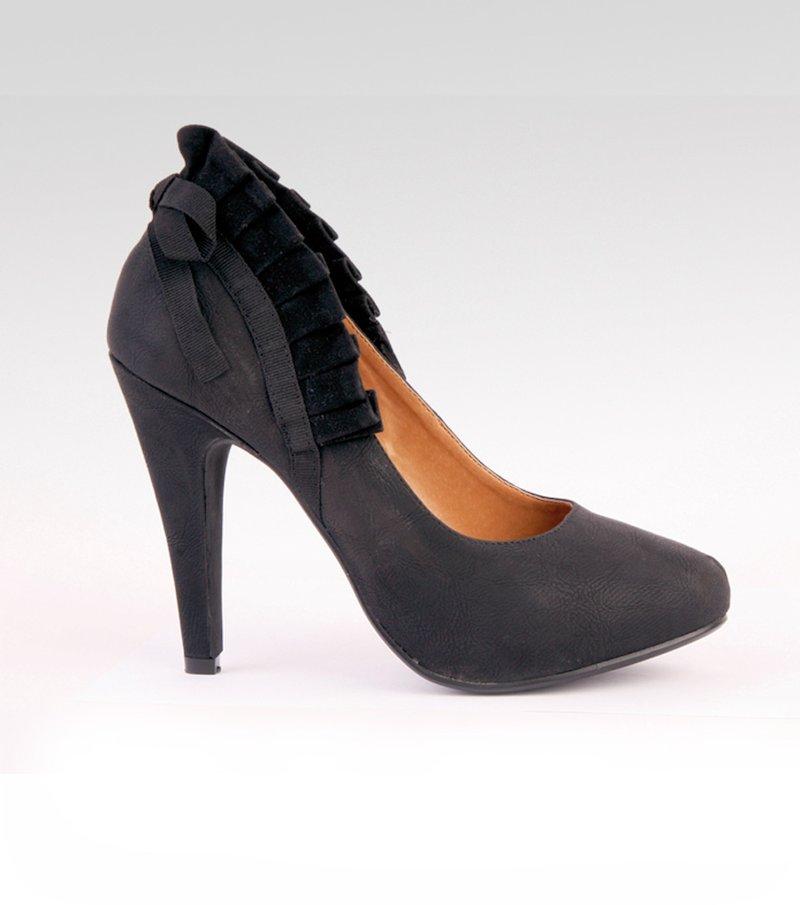 Zapatos mujer tacón símil piel - Negro