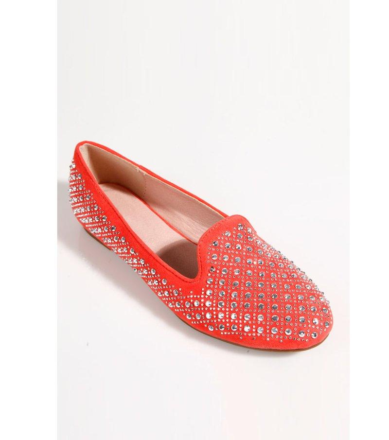 Zapatos bailarinas mujer coral