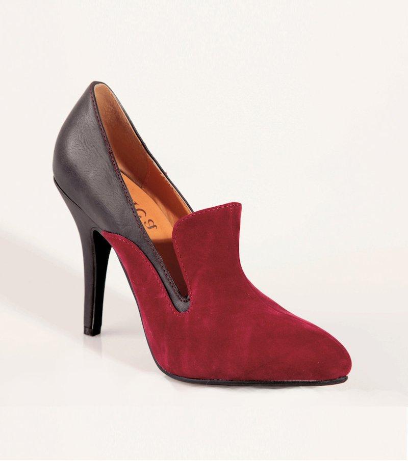Zapatos de tacón mujer en terciopelo y símil piel