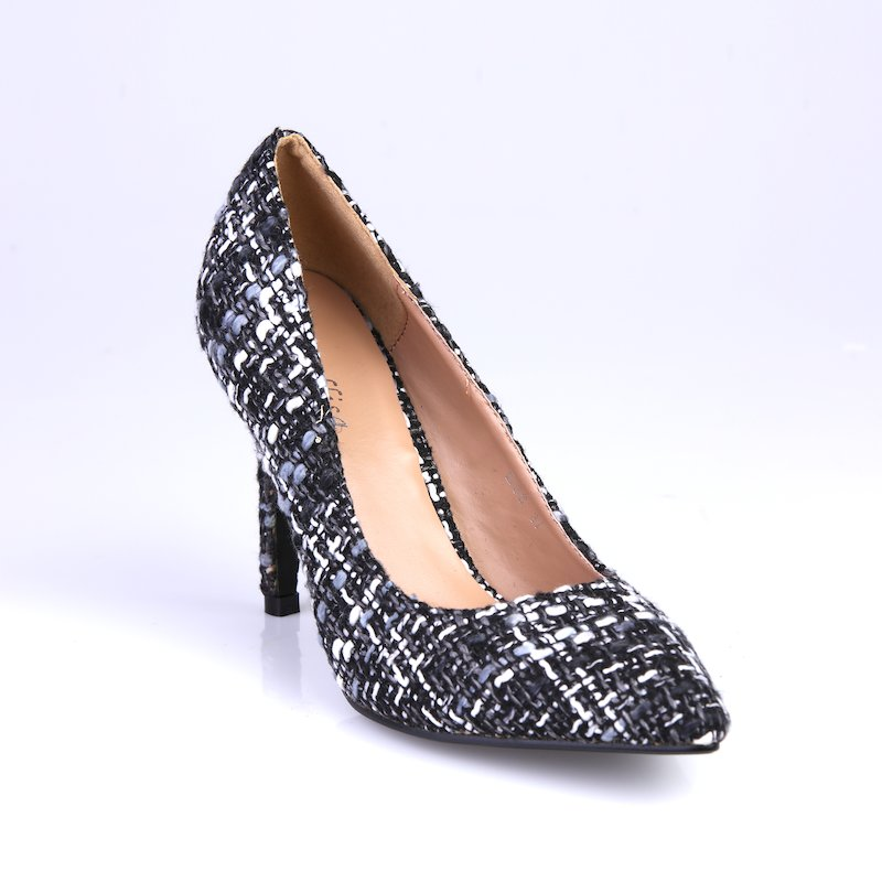 Zapatos de tacón alto salón estampado