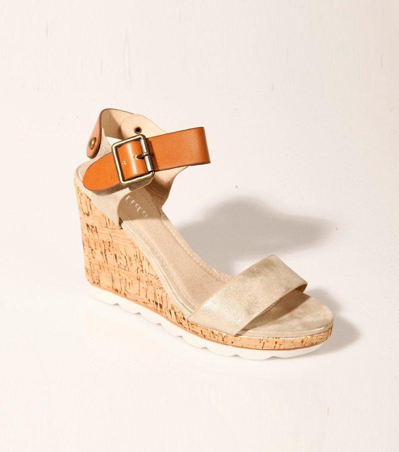 Sandalias mujer con cuña y plataforma corcho