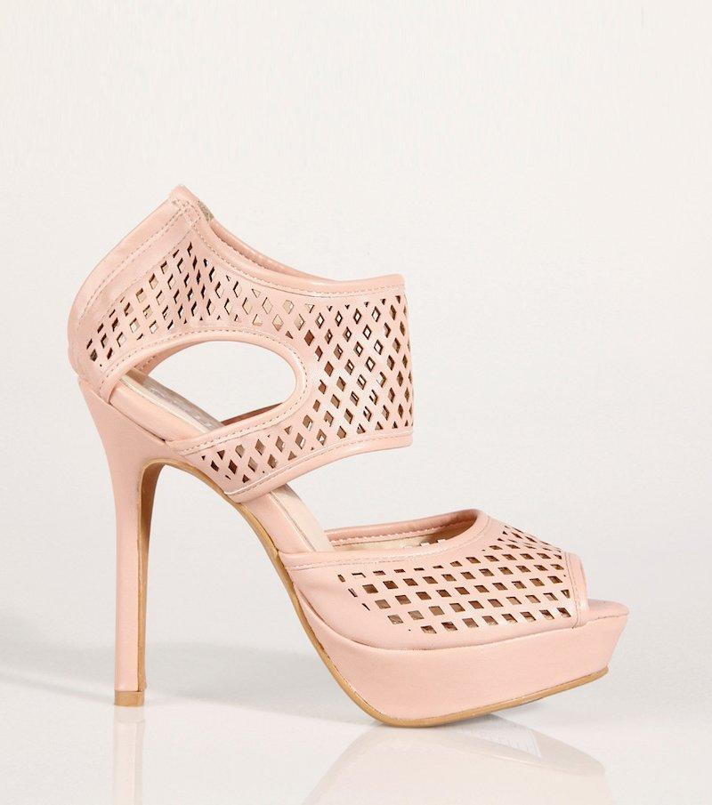 Zapatos de tacón mujer con plataforma y calado