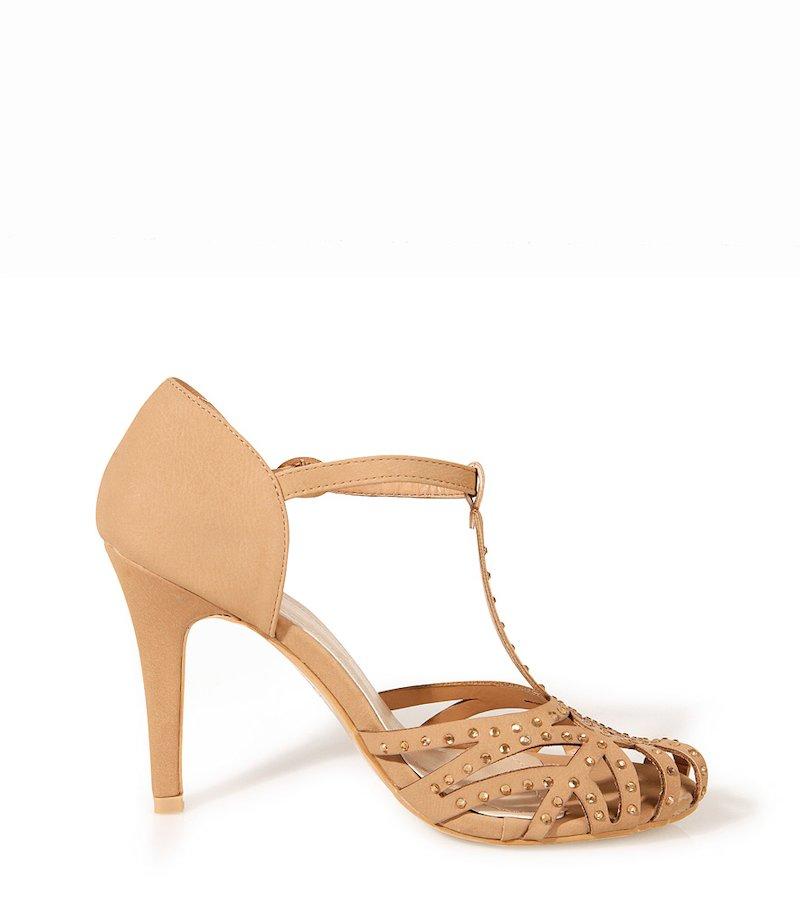 Sandalias mujer de tacón con strass