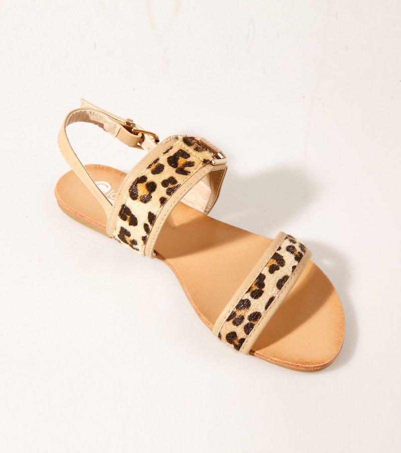 Sandalias de tiras mujer animal print