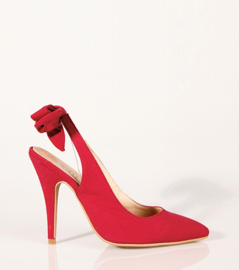 Zapatos de tacón mujer corte salón con lazo