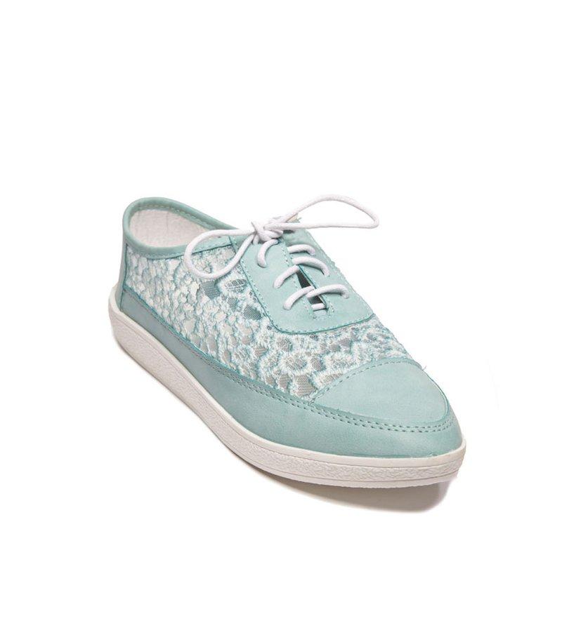 Zapatillas deportivas mujer bordado semitransparen - Azul