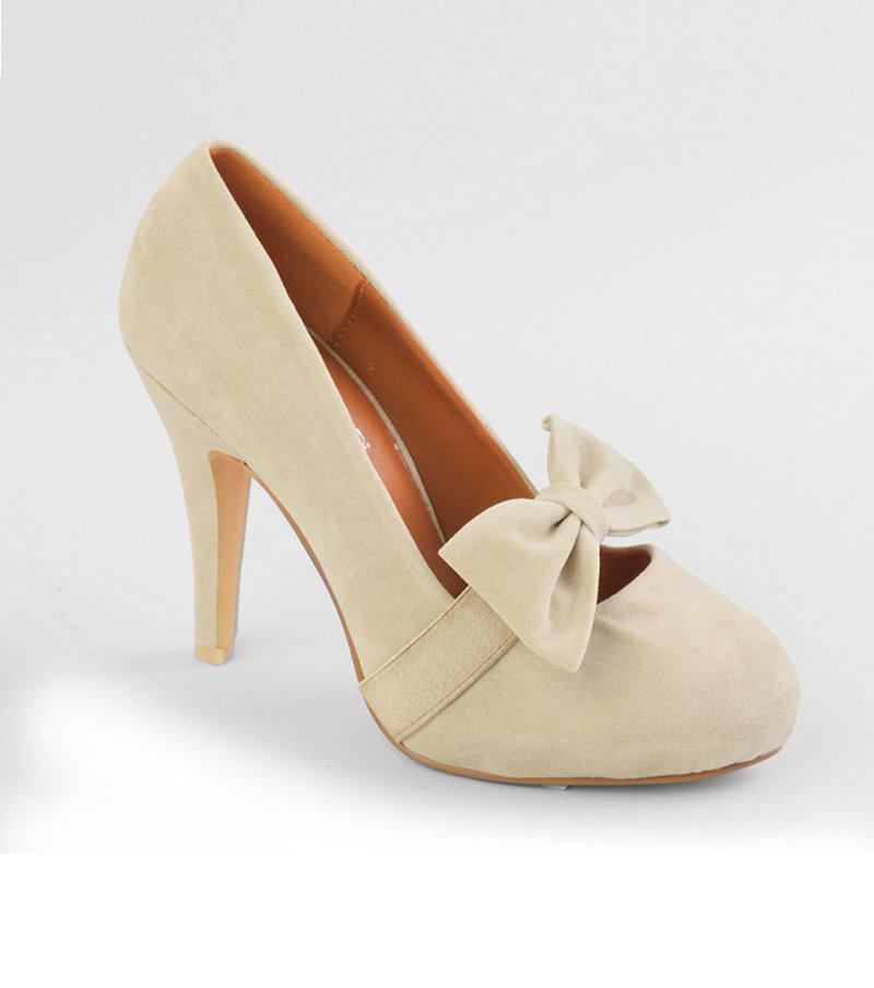 Zapatos mujer de tacón con lazo