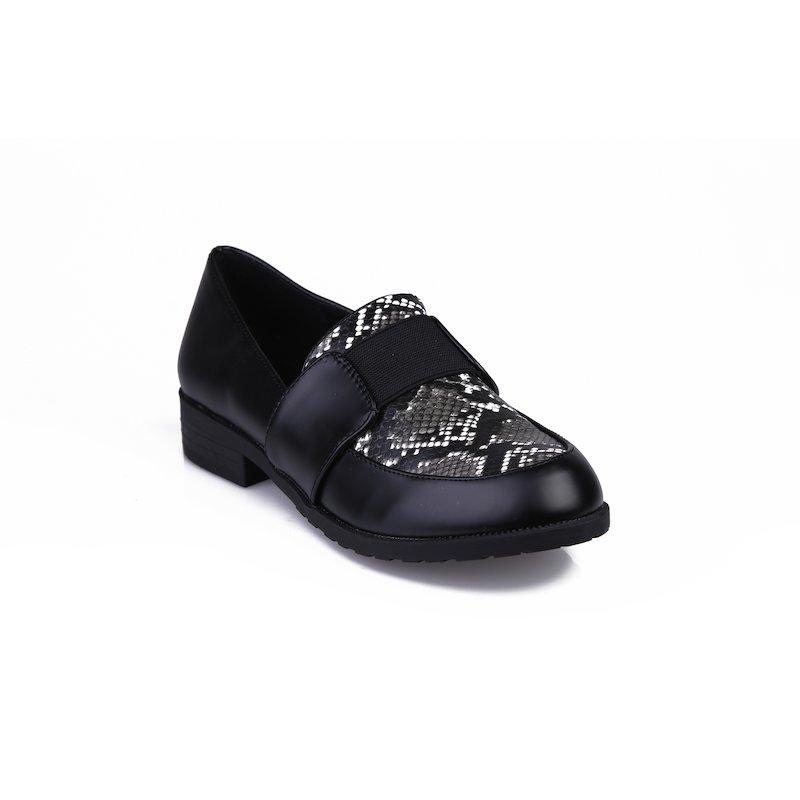 Zapatos mujer con símil piel de serpiente