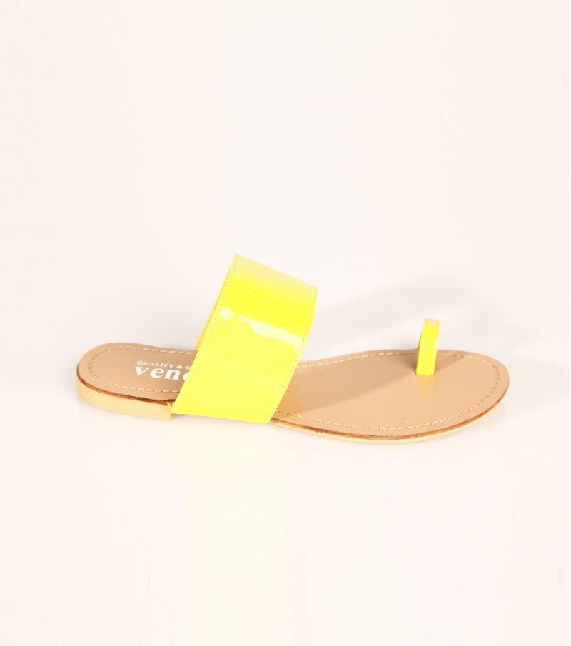 Sandalias planas mujer flúor