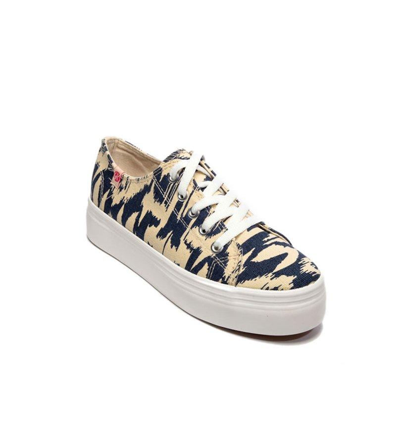 Zapatillas deportivas mujer lona suela ancha