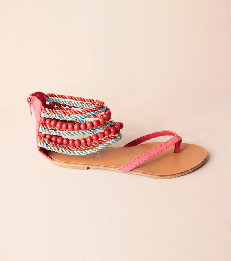 Sandalias planas de mujer con talón reforzado