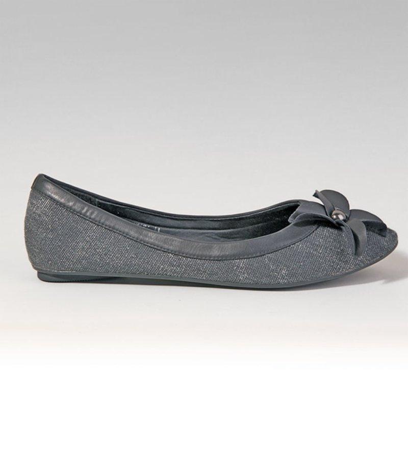 Zapatos mujer manoletinas bailarinas - Gris
