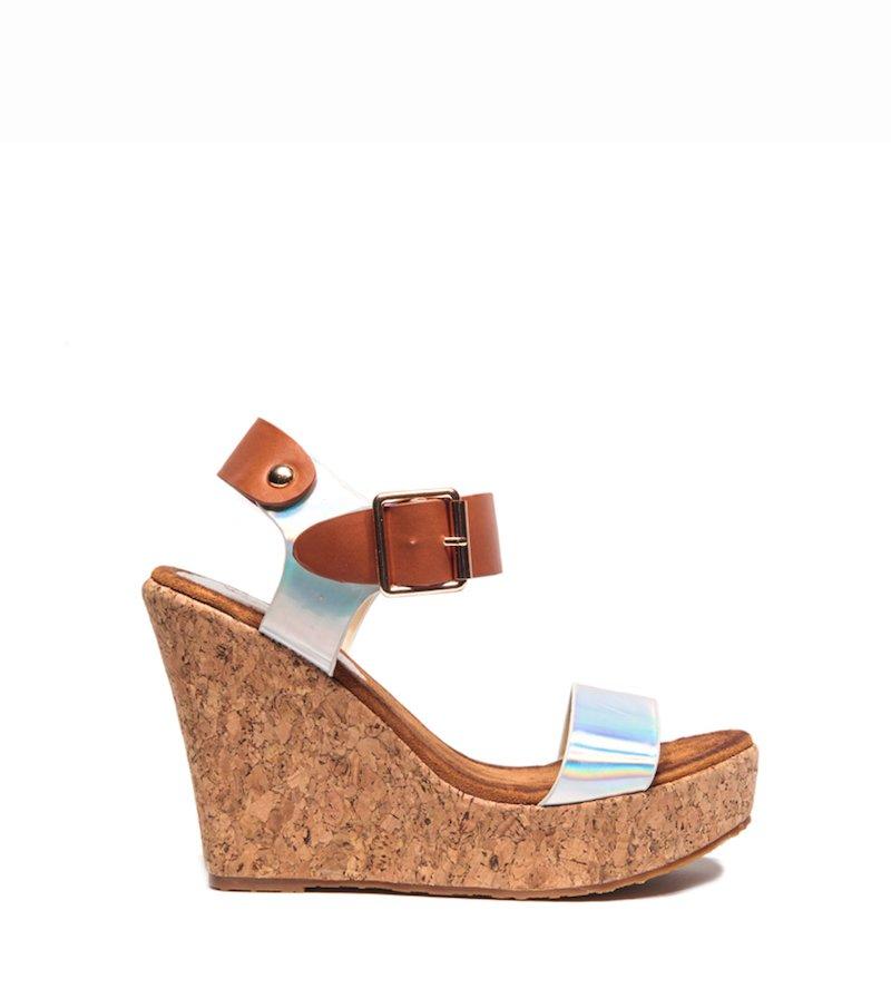 Sandalias mujer plataforma cuña corcho
