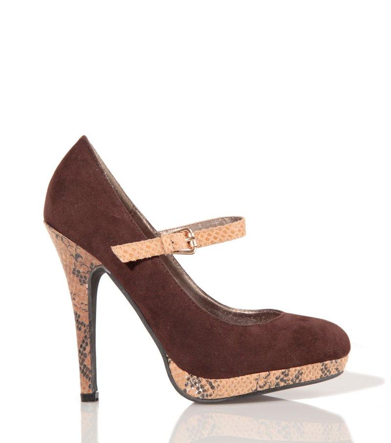Zapatos de tacón mujer salón con estampado pitón
