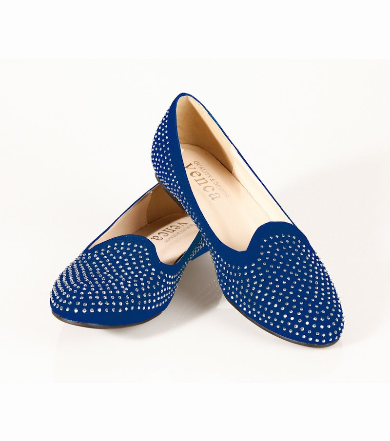 Zapatos bailarinas mujer con strass
