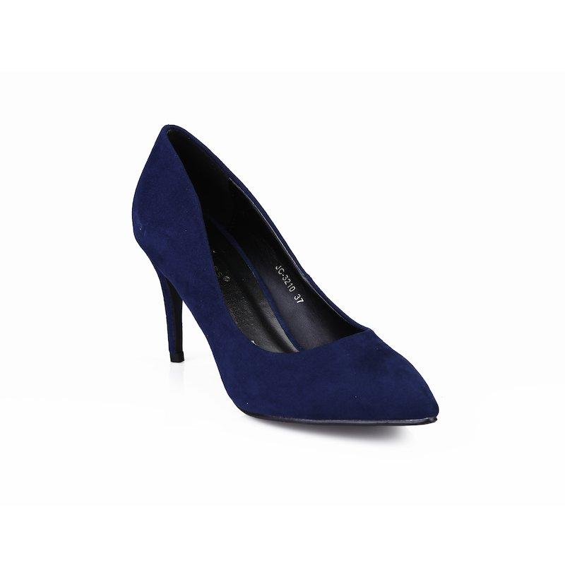 Zapatos de vestir mujer con tacón forrado en símil ante