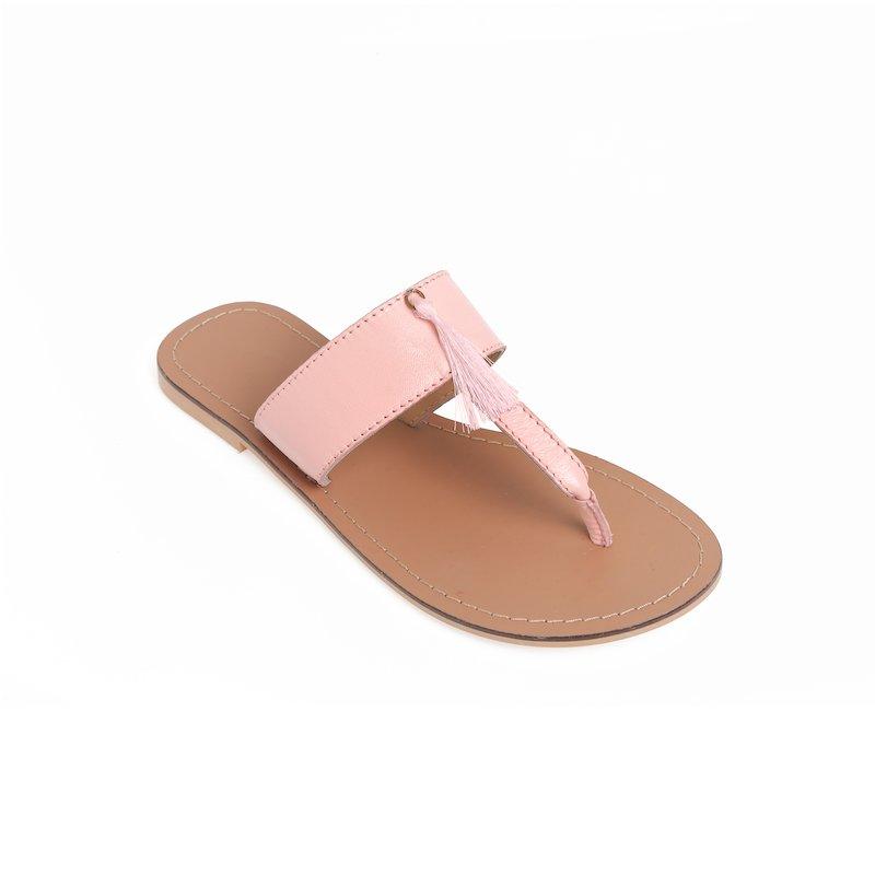 Sandalias de dedo con borla a tono en el empeine