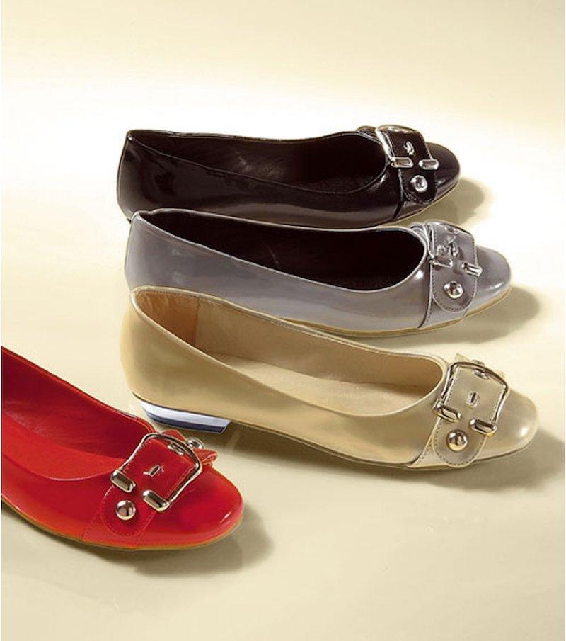 Zapatos bailarinas planas mujer con hebilla