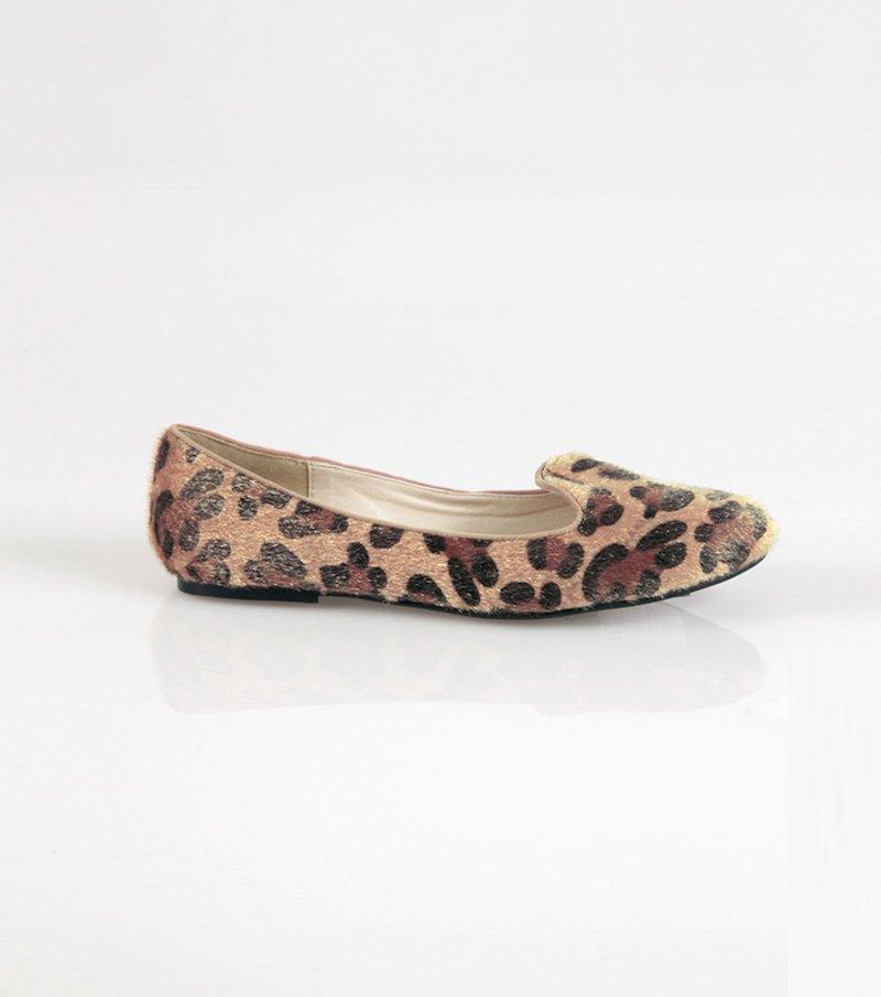 Zapatos bailarinas mujer leopardo