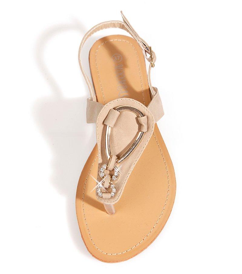 Sandalias planas mujer con fantasía