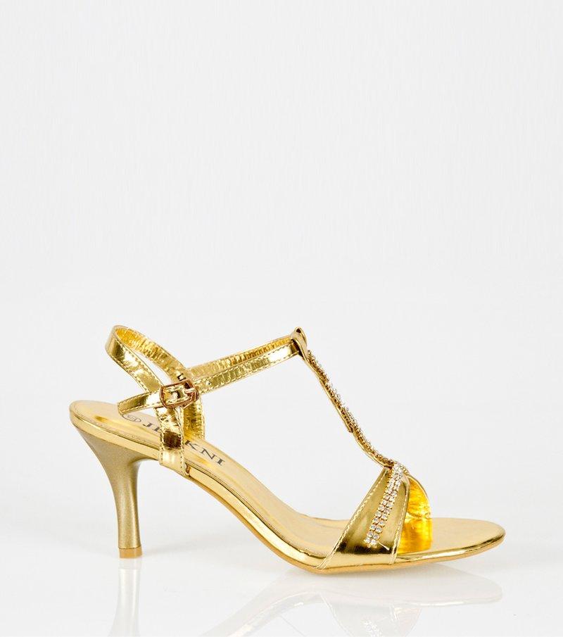 Zapatos sandalias de fiesta de tacón mujer strass