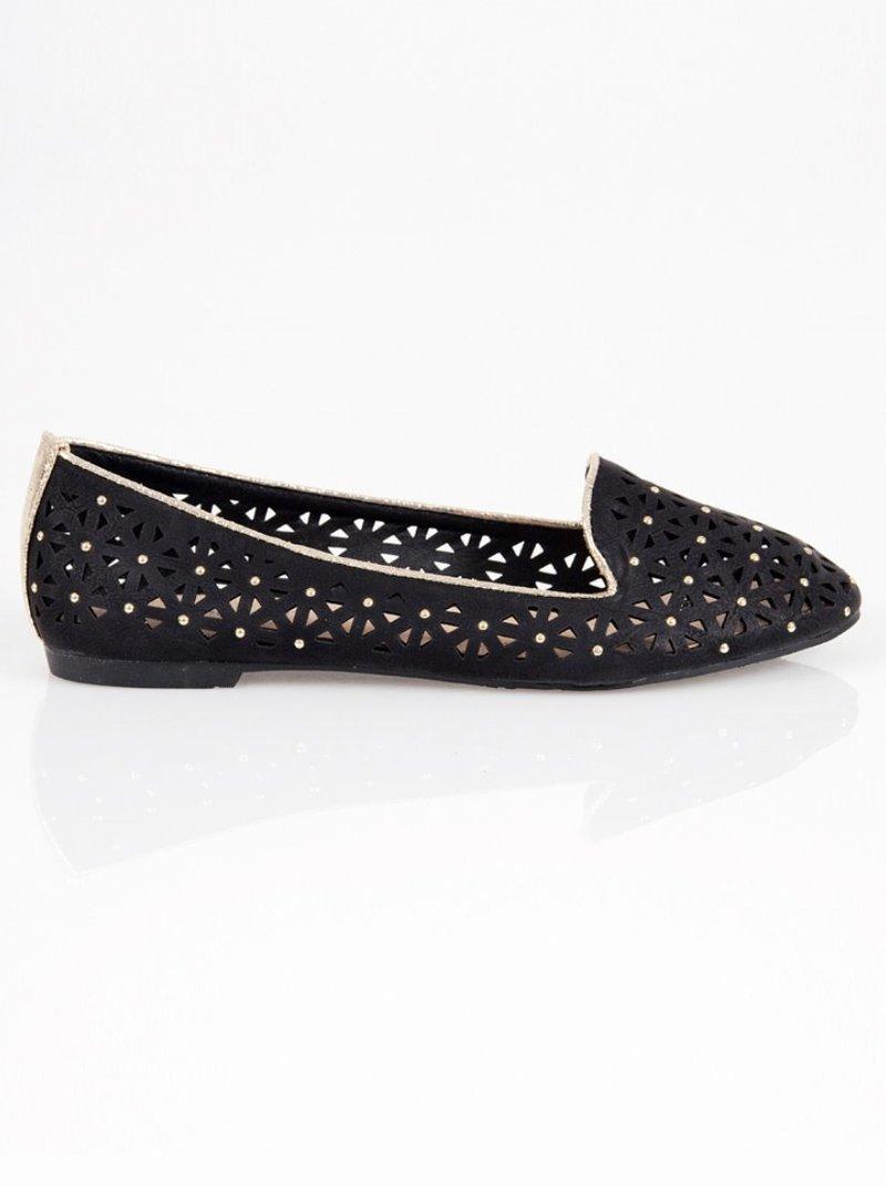 Zapatos planos bailarinas mujer troqueladas