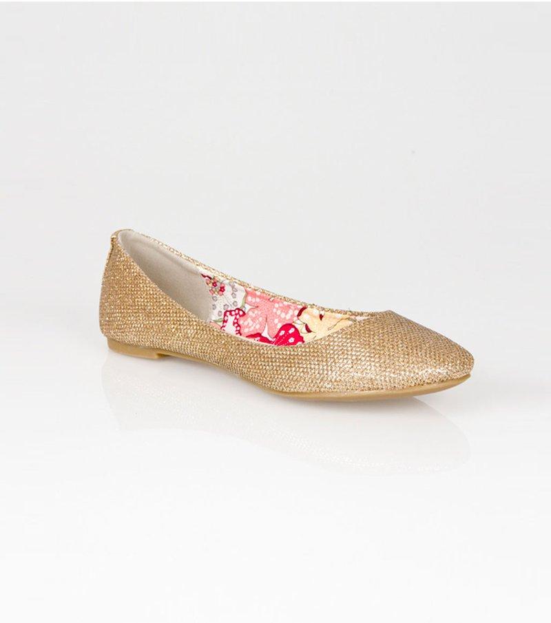 Zapatos bailarinas mujer hilos metalizados