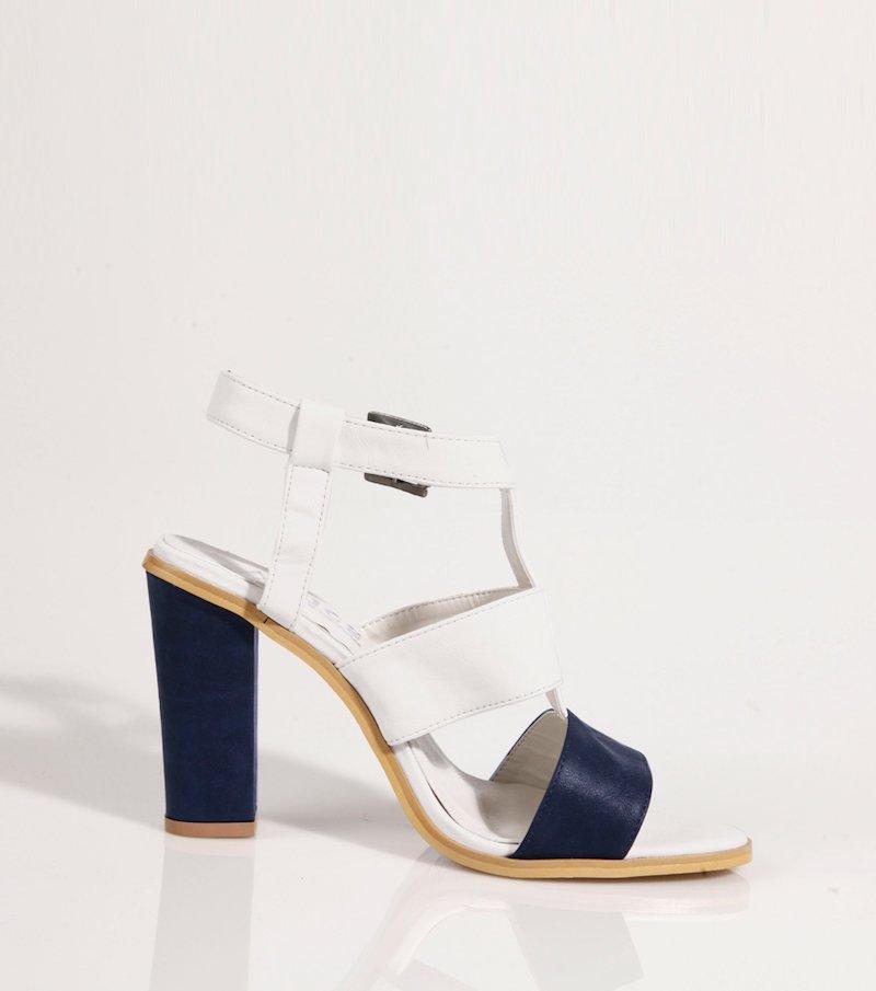 Sandalias de mujer con diseño bicolor - Azul