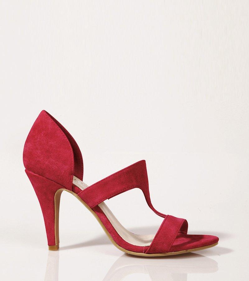 Sandalias mujer símil ante - Rojo