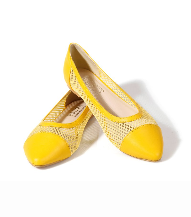 Zapatos bailarinas mujer de rejilla