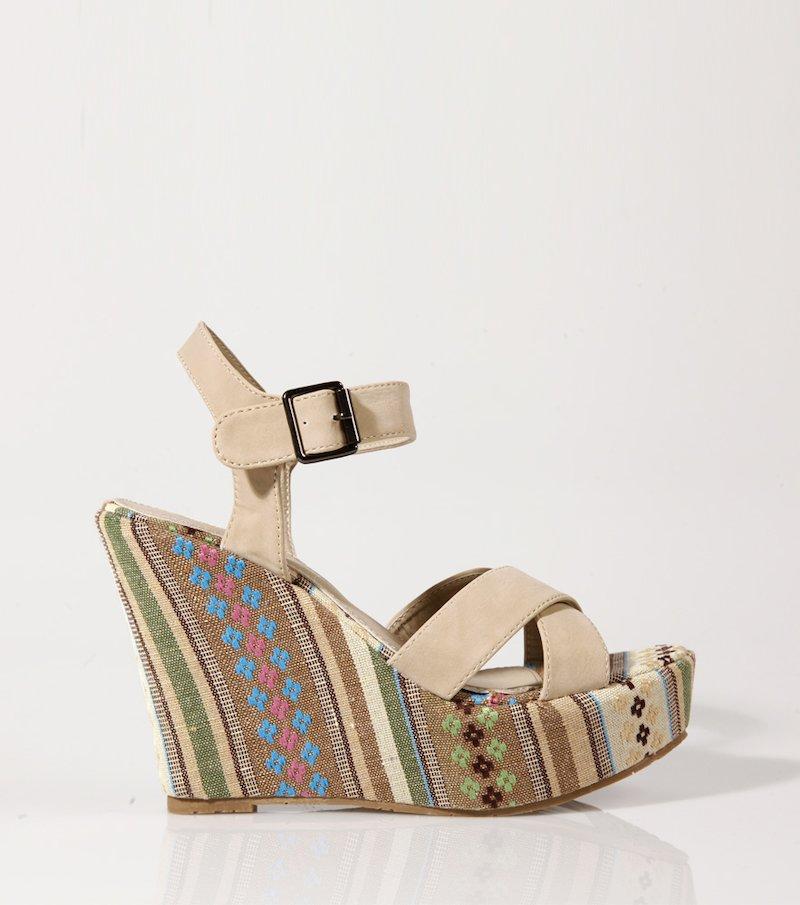 Sandalias mujer con plataforma y cuña