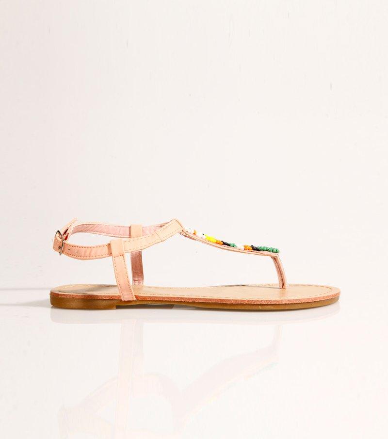 Sandalias mujer planas con abalorios