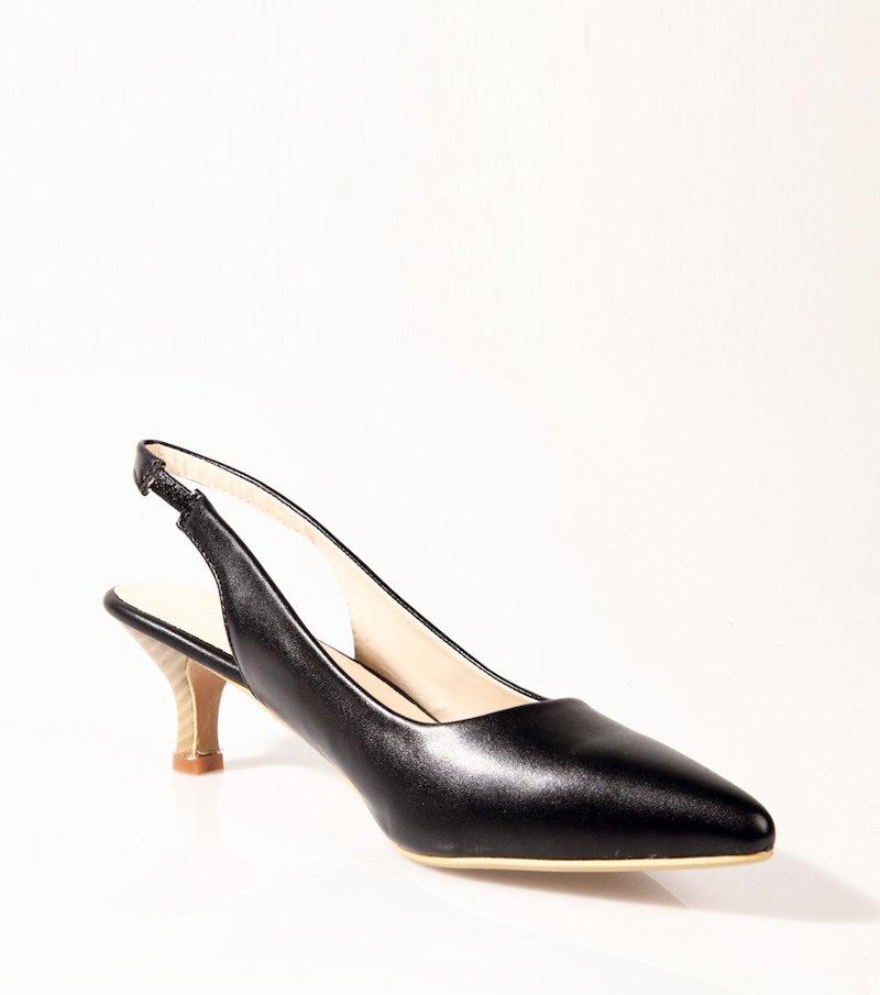 Zapatos stiletto para mujer símil piel - Negro
