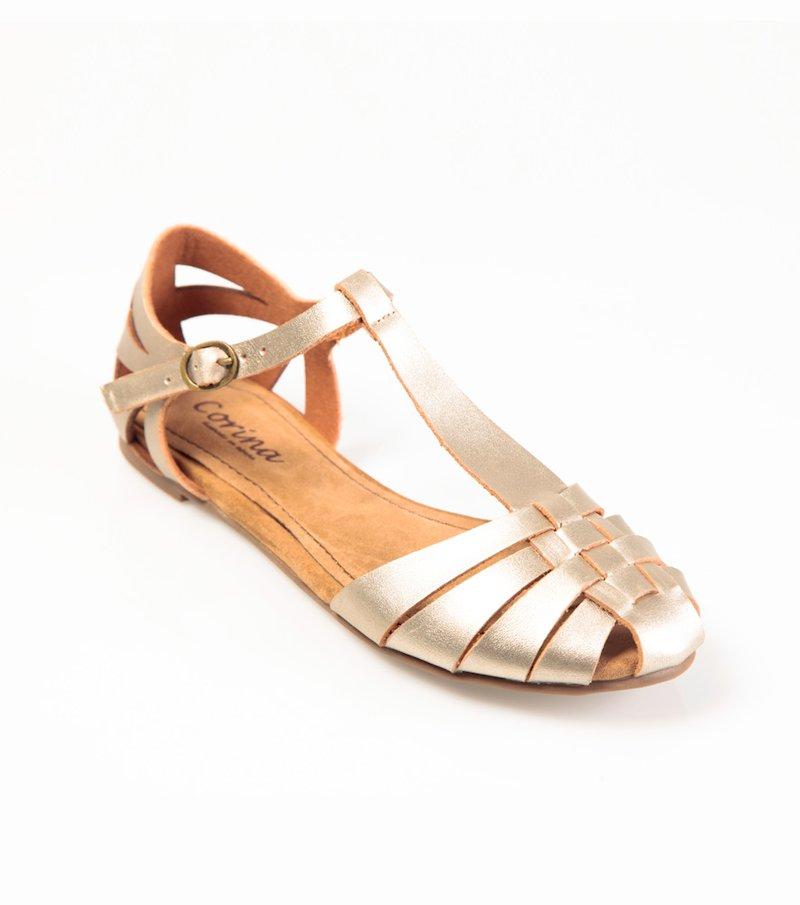 Sandalias planas mujer romanas plateadas