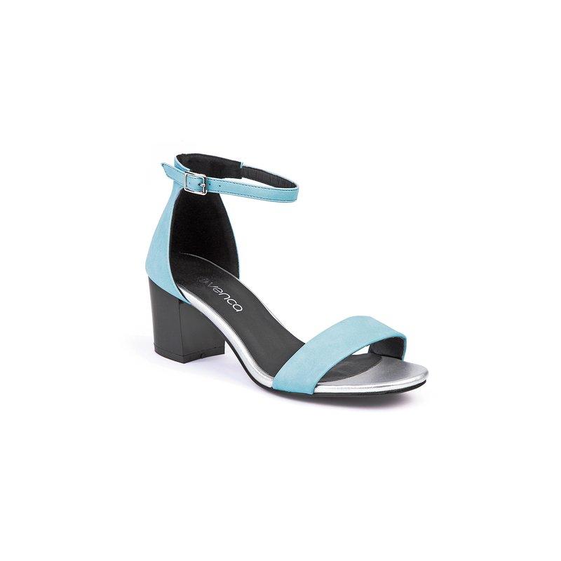 Sandalias de mujer con correa de tobillo y tacón