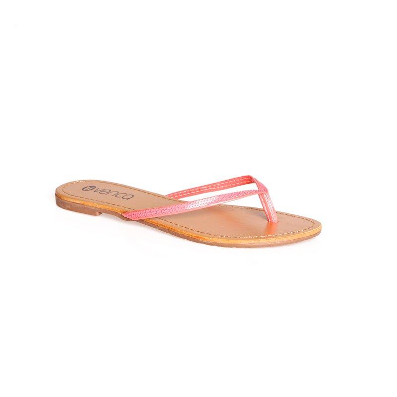 Sandalias chanclas de dedo con lentejuelas