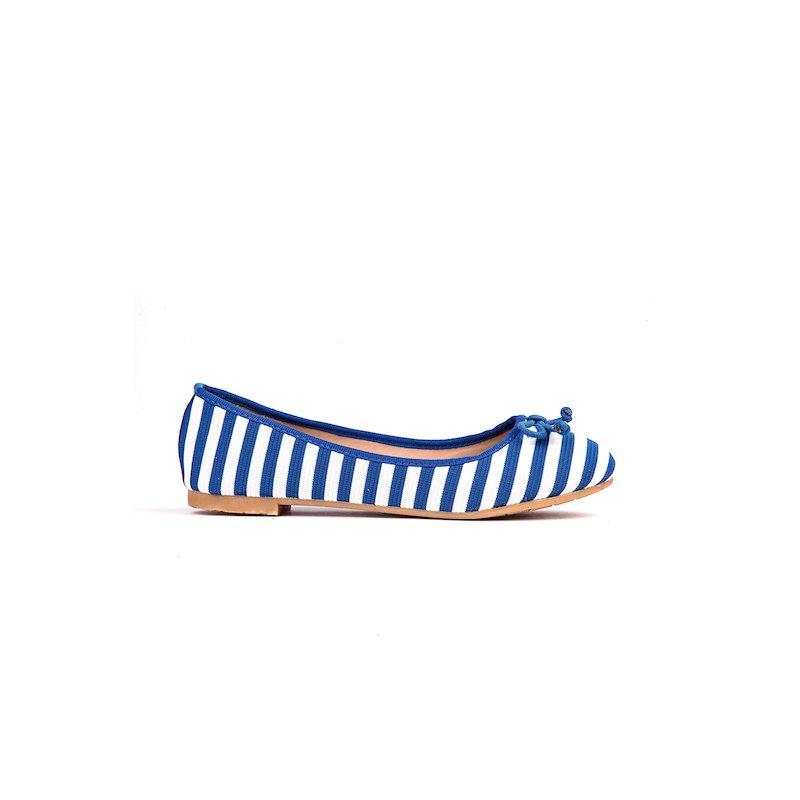 Bailarinas manoletinas zapatos planos de rayas