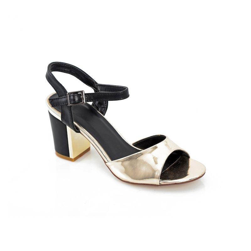 Sandalias de tacón cuadrado para mujer