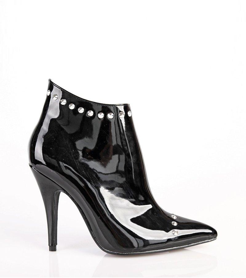 Botines mujer con tachuelas - Negro