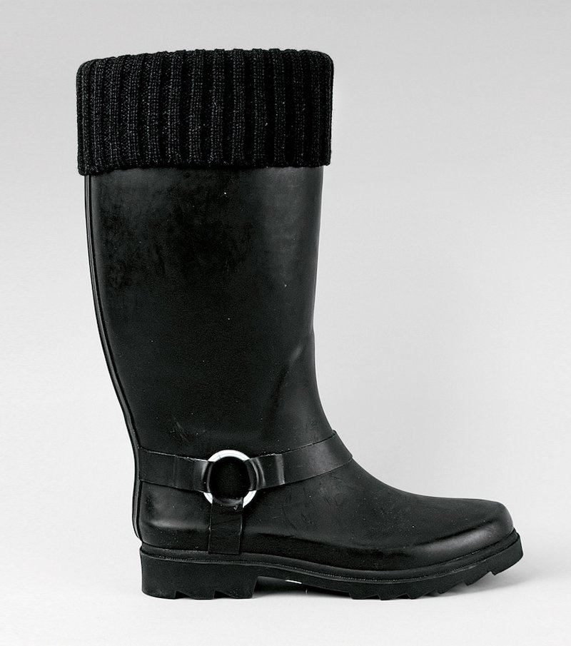 Botas de agua altas mujer con vuelta de calcetín
