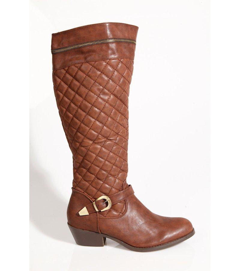 Botas altas mujer acolchadas marrón